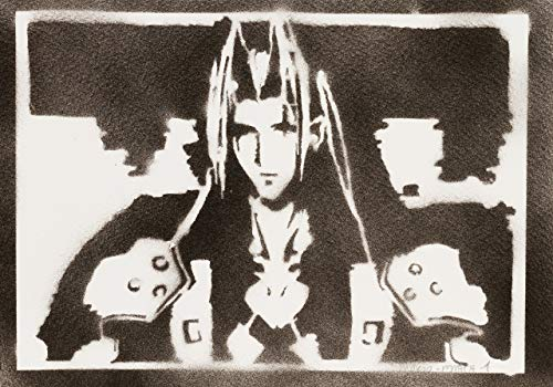 Poster Sephiroth Final Fantasy Handmade Graffiti - Handmade Street Art - Artwork