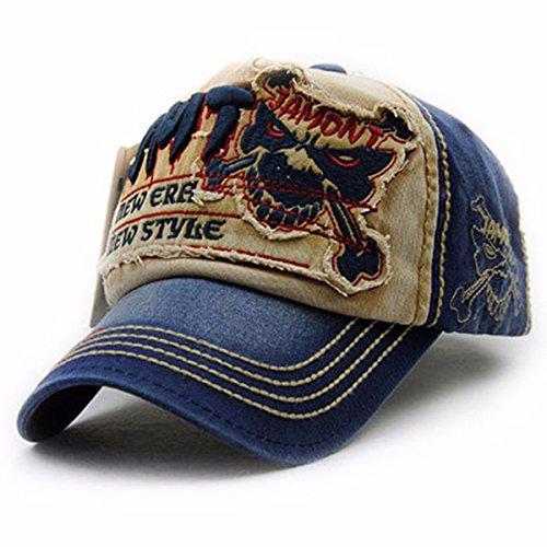Baumwolle Baseball Cap Unisex - iParaAiluRy einstellbare Baseball Hut für Outdoor, Sport, Reisen - Brief Patch Nieten lässige Caps komfortabel und typisch