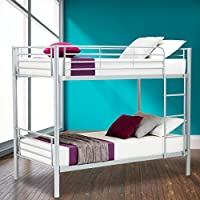 SUNCOO Metal Bunk Beds Frame 2x3FT Single Bed for Kids Childrens and Adults