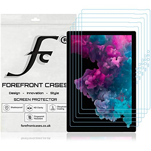 Forefront Cases Microsoft Surface Pro 6 12,3 Zoll Displayschutz Displayschutzfolie [5 STÜCK] | Ultraharte Polyethylenterephthalat (PET) Kunststoff | Ultradünn 0.1mm Staub & Kratzfest | HD-Qualität