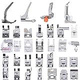 Muzee 32Pcs Multifunktions Nähmaschine Fuß Set Domestic Presser Feet Kit