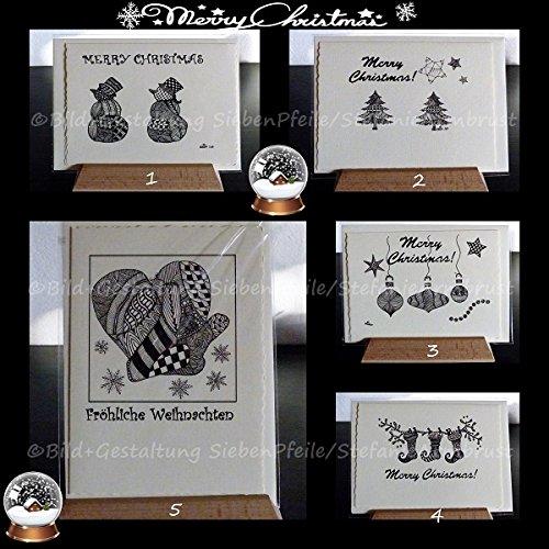 SiebenPfeile\'s einzigARTige Weihnachtskarten Grußkarten Faltkarten (inspired by Zentangle®)