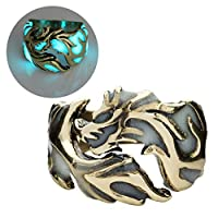 Kofun Ring, 2018 Vintage Unisex Rings Glow Dragon Finger Rings For Men And Women Al Rings Luminous In The Dark Party Ring Jewelry Accessories Bronze And Blue