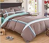 Baumwolle europäischen und amerikanischen Stil einfache Bettwäsche vier Sätze von gestreiften Baumwolle Bettwäsche Sets von 4 Sets