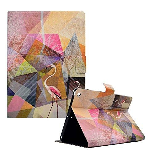 Brieftasche Folio Hülle für New iPad 9.7 2017,Bookstyle Flip Schutzhülle für New iPad 9.7 2017,Funyye Stilvoll Ziemlich [Flamingo Marmor Muster] PU Leder Magnetisch Wallet Tasche Hülle Etui Schale mit Standfunktion Weich TPU Inner Ledertasche Hülle für New iPad 9.7 2017 + 1 x Frei Stylus Pen