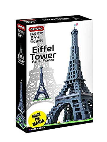 OXFORD EIFFEL TOWER OXF35212 BUILDING BLOCK KIT WITH 1,993 PIECES