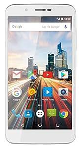 Archos 55 Helium Smartphone débloqué 4G (Ecran: 5,5 pouces - 16 Go - Double SIM - Android) Blanc