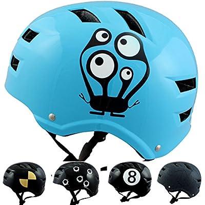 Skullcap® BMX Helm ? Skaterhelm ? Fahrradhelm ?, Herren   Damen   Jungs & Kinderhelm, schwarz matt & glänzend