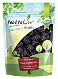Prugne snocciolate biologiche - Prugne secche della California, non OGM, non insaporite, non zuccherate, sfuse (by Food to Live) (1 libbra)