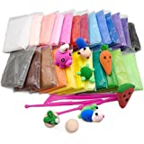 ShopNGift DIY Super Light Modeling Air Dry Magic Clay Plasticine For Kids/Teens Children Playdough Doh Dough - Non Toxic Bouncing Clay(12 Color Pcs) Super Magic Clay