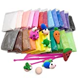 #10: ShopNGift DIY Super Light Modeling Air Dry Magic Clay Plasticine for Kids/Teens Children Playdough Doh dough - Non Toxic bouncing clay(12 Color Pcs) super magic clay