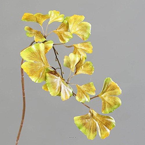 Artificielles Ginkgo Biloba H-Form, 60 cm, Goldfarben