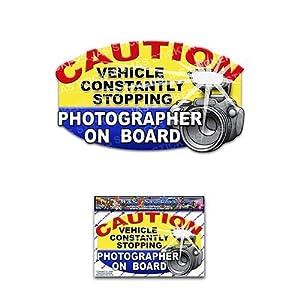 Fotograf an Bord lustiger Scherz Touristen Vinyl Auto Aufkleber Pack für Laptop, Wohnwagen, LKW, Boote ST00026_SML - JAS Aufkleber