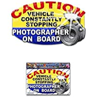 Fotógrafo a bordo divertido chiste paquete de pegatinas de vinilo turístico para laptop, caravanas,