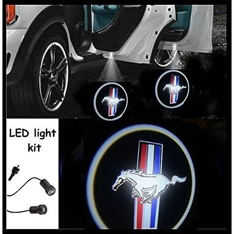 iluminación guía (Puerta), luz LED CREE R3Kit Ford Mustang Logo (par)