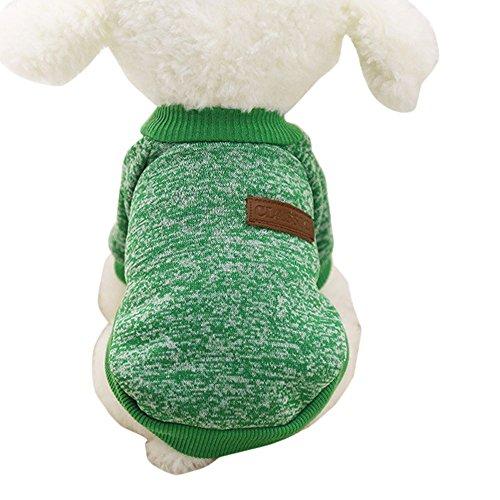 mxjeeio Haustier hundebekleidung Hoodie warme Fleece Puppy Coat Bekleidung hundepullover, Sweater Gestrickter Pullover für Kleine Hunde, katzenpullover Herbst Katze Pullover cat Kleidung ()