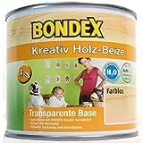 Bondex Kreativ Holz-Beize Transparent Base, 0,5 Liter in farblos