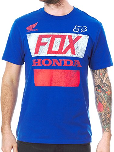 T-Shirt Fox Honda Distressed Blu (Xl , Blu)