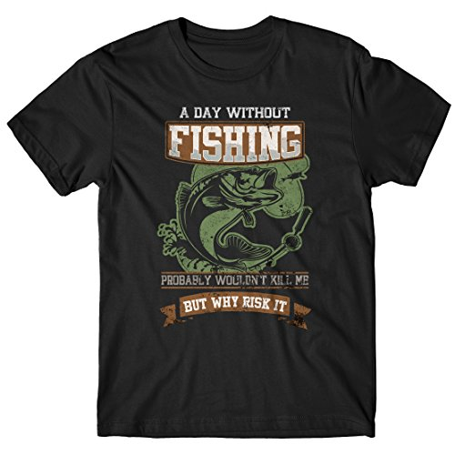 LaMAGLIERIA T-Shirt Homme A Day Without Fishing -...