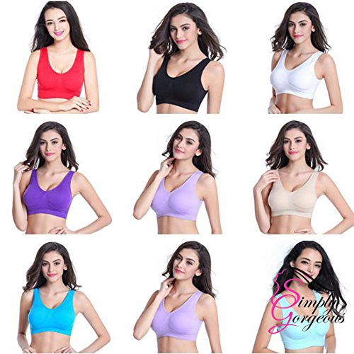 3 Pack Of Simply Gorgeous Ultra Comfort Seamless Sport Style Bra