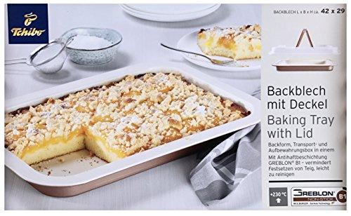 TCM Tchibo Backblech 42 cm Frischhaltedeckel Kuchenform Backform Tortenblech Kuchen Form
