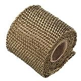 AUDEW 2 zoll Auspuff pipe wärmedämm Hitzeschutzband isolierband Gewebeband Titan