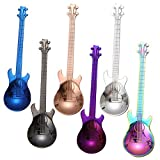 Renaisi Guitar Spoons, Coffee Spoons Tea Spoon Stainless Steel Colorful for Ice Cream