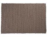 Sukhi Anil: gestrickter Teppich, graue Wollteppiche, dänisches Design, modern (170cm x 240cm / 5' 6.9'' x 7' 10.4'')