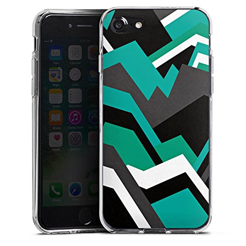 Apple iPhone X Silikon Hülle Case Schutzhülle Steine Berge Muster Silikon Case transparent