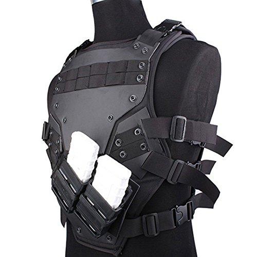 CS Schutzweste Cosplay Vest TF3 Tactical Weste Schwarz