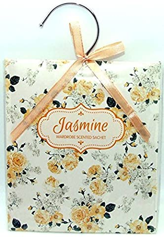 Scented Wardrobe Hanger - Scented Sachet in - Jasmine Scent