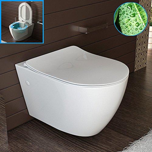 Design Spülrandlos Hänge-WC /Toilette - mit WC-Sitz Rimless Wand WC NANO