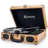 Popsky Record Player, Vintage Turntable Record player with 3-speed 33/45/78 RPM Vinyl Player