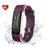 EFOSHM ID115plus HR Smart Armband,Fitness Tracker, Bluetooth 4.0 Fitness Armband, Unterstützung ios7.1 oben android4.4 und höher (lila)