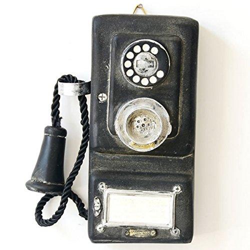 Jeteven Retro Teléfono Modelo Colgante Pared Decoración