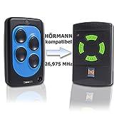 Handsender 27 MHz für Hörmann HSE2 und HSM4 grüne Tasten 26,975 MHz Funk Garagentorantrieb