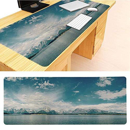 Haofengjing Blauer Himmel Und Weiße Wolken Mousepad Multifunktionsspiel Mousepad Xxl Groß Unter Hand Tischrechner-Schreibtisch Gamer -