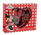 Corine De Farme | Minnie | Coffret Cadeau | Disney | Parfum Enfant 50ml | Pochette & Broche | Barrettes | Elastiques | Fabriqué en France