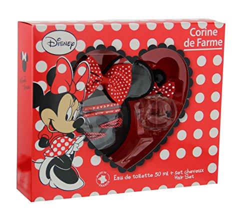 Corine de Farme Coffret Disney Minnie Eau de Toilette 50 ml + Pochette + Broche + 2 Barrettes + 2 Elastiques