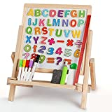 3 in 1 Wooden Magnetic Double-sided Art Easel Tabletop Adjustable Dry Erase