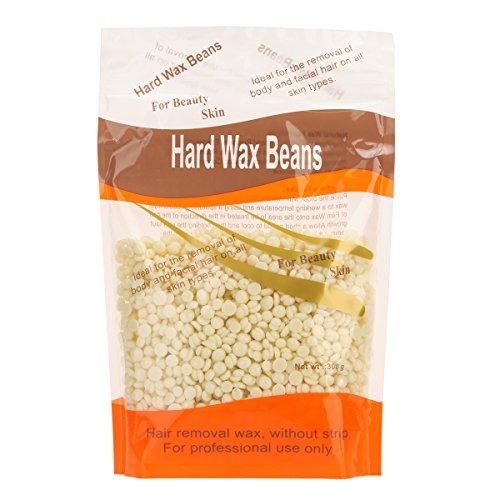 Hair Removal Gel Cream (Bonjanvye Hard Wax Warmer and Wax for Facial Wax Beans 300g Brazilian Wax Cream)