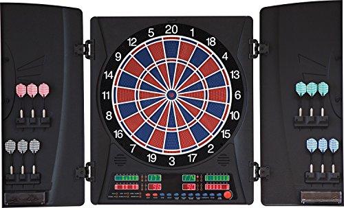 Dartona Elektronische Dartscheibe CB160 Cabinett - Turnierscheibe mit 33 Spielen und über 160 Varianten