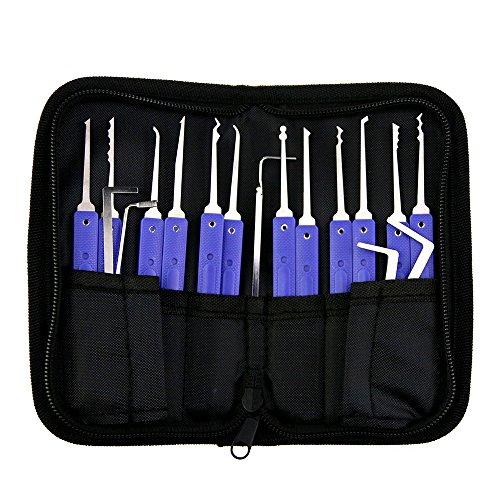 TPM Go Küchengeräten Locksmith Pick Set mit 5x Tension Wrech, transparenter Training Lock (Spannung Schraubenschlüssel Lock Picking)