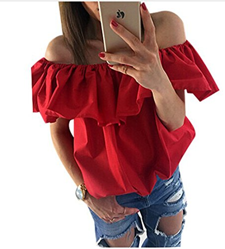 womens-summer-off-shoulder-striped-ruffles-blouse-shirts-loose-tops-l-red