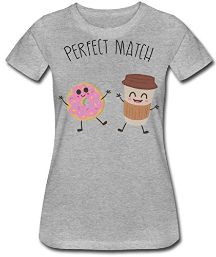 - Perfect Match Cup Of Coffee And Donut Frauen Women's T-Shirt Small