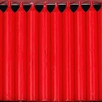 Bütic GmbH 20er Pack durchgefärbte Baumkerzen - hochgereinigte Kerzen mit rückstandsfreiem Abbrand, Farbe:Weihnachtsrot preisvergleich bei billige-tabletten.eu