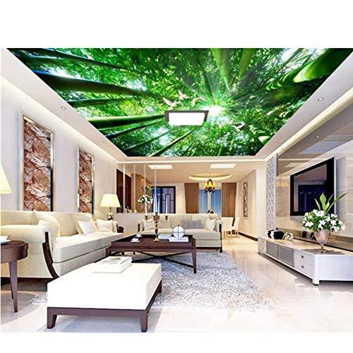 Wandbild 3D Room Wallpaper Benutzerdefinierte Wandbilder Vlies Wandaufkleber Dove Bamboo Forest Painting Bild 3D Wall Zimmer Wandbilder Wallpaper-450cmx300cm