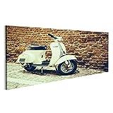 bilderfelix® Bild auf Leinwand Alte Vespa parkte auf Alter