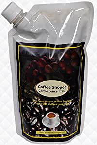 Coffee Shopee coffee Filter Coffee powder decoction CHILLLED/COLD - HOT/WARM brewed (Ready to use liquid coffee) (1000ml) (100 cups) (NO added preservatives)