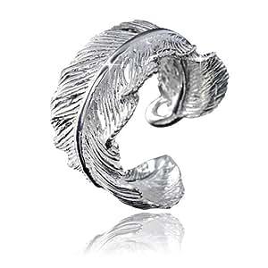 MATERIA 925 argent bague plume-plumes brillant pour femme en argent taille 52–60 réglable avec bijou boîte-sR - 24